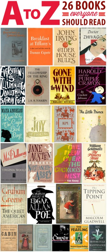 A To Z 26 Books Everyone Should Read The Half Price Blog