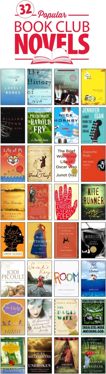 Top 32 Popular Fiction Books For Book Clubs The Half Price Blog