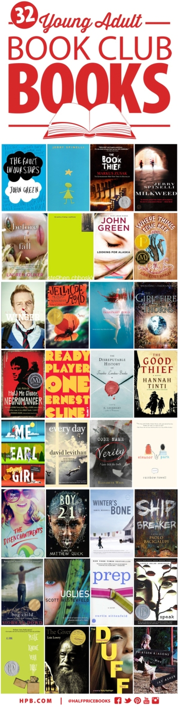 Best Young Adult Book Club Fiction The Half Price Blog