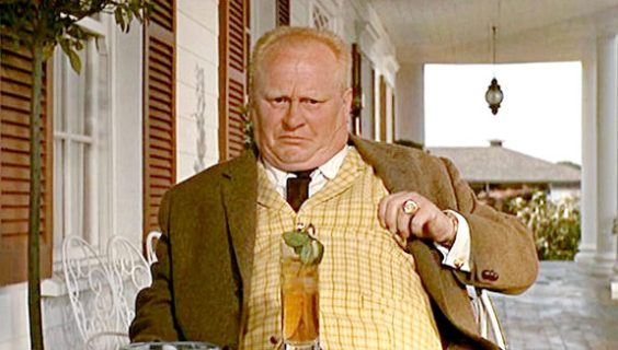 Gert Frobe plays Auric Goldfinger in