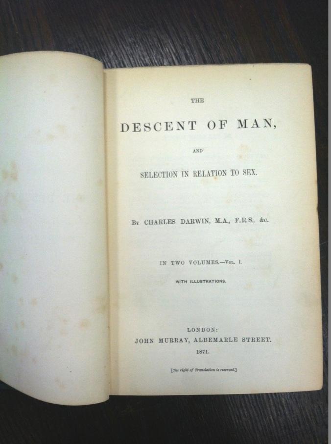 darwin title page