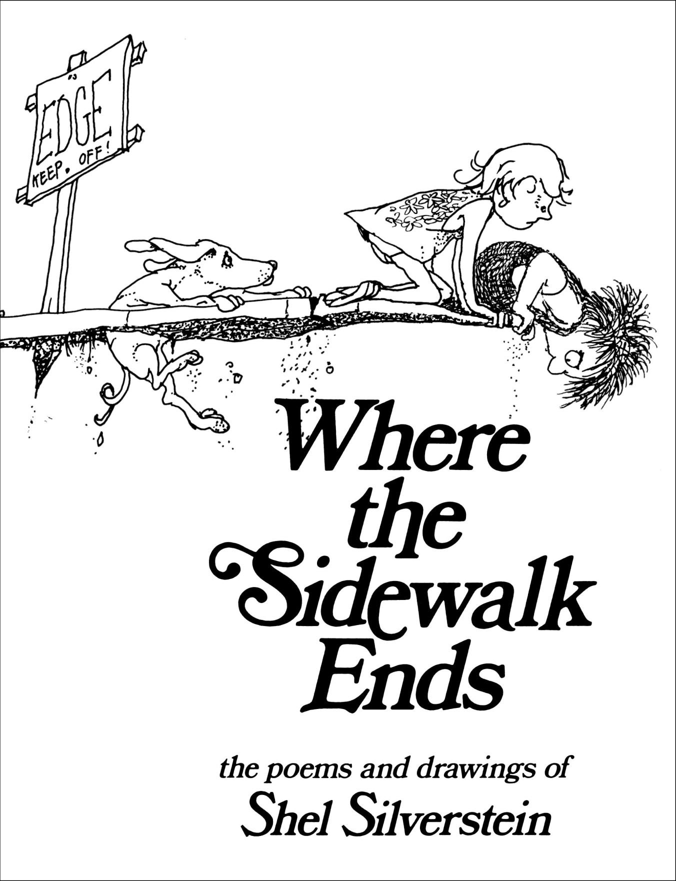 shel silverstein where the sidewalk ends - HD785×1024