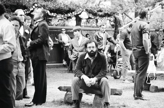Coppola on set